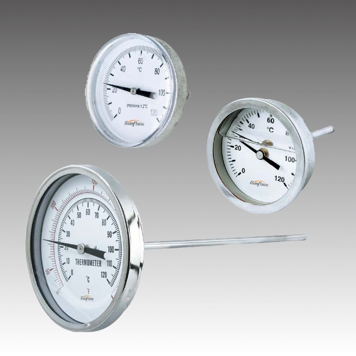 Center Back Bimetal Dial Thermometer